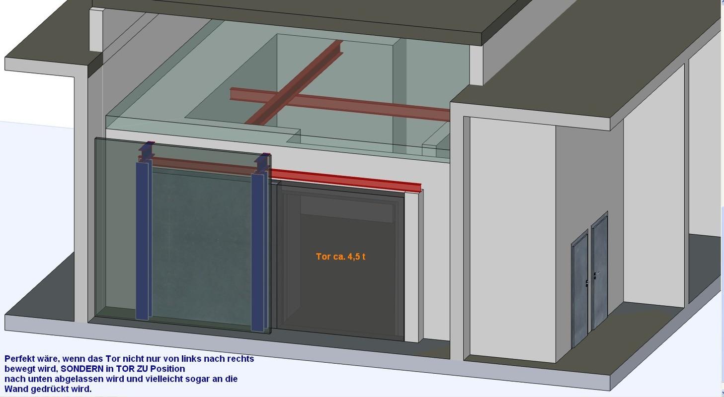 Röntgenraum für Materialprüfungen. Einbau in Bestandsgebäude